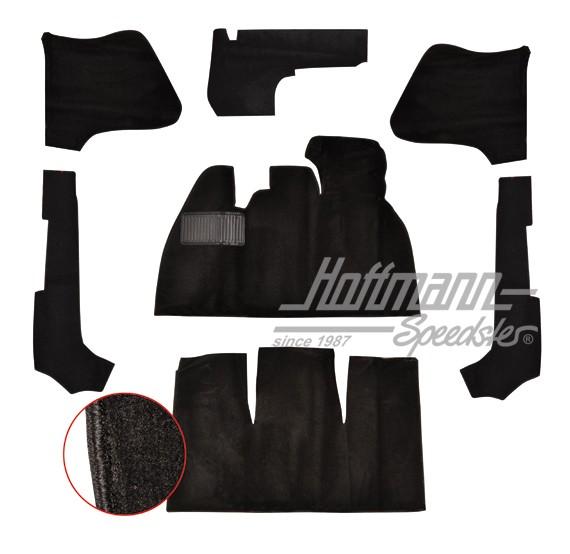 Teppichsatz Serienkäfer schwarz