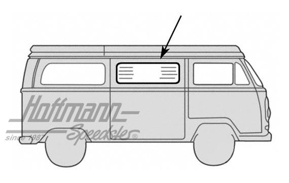 Seiteinscheibendichtung für VW Bus